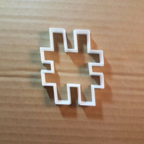 HASHTAG symbole Emoji Forme Cookie Cutter Pâte Biscuit Pâtisserie Fondant Sharp