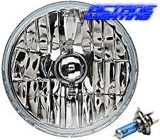 "7"" Crystal Headlight H4 Halogen White Light Bulb Headlamp Fits Harley Motorcycle"