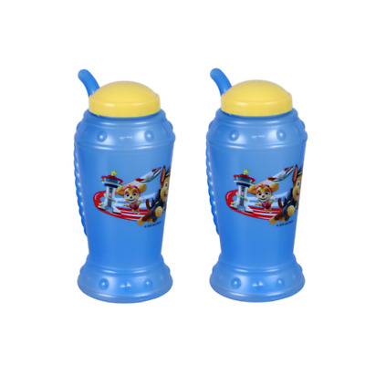 2 x Children Sip a Cup Tumblers with Built in Straw Plastic Sippy CupDS