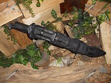 Machete/Sword/Bowie/Knife/Carbon steel/Flint/Compass/Full tang/Survival kit