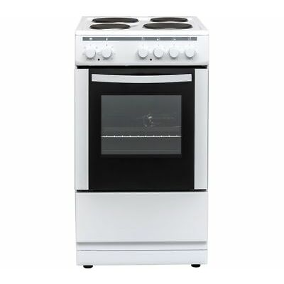 ESSENTIALS CFSEWH18 50 cm Electric Solid Plate Cooker - White - Currys