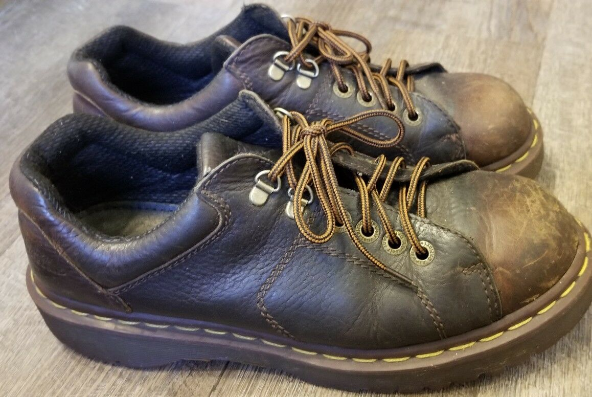 Dr Martens  Mens Size 9M Brown Leather Lace Up Oxford Shoes