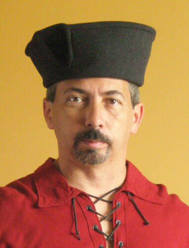 Single Opening Medieval Celtic Renaissance Tudor Borgias Larp SCA Merchant Hat