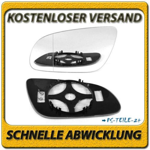 spiegelglas für AUDI A8 D3 2003-2008 links asphärisch beheizbar mit Platte