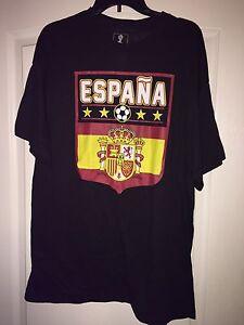 a3885c1371 NEW FIFA World Cup Brasil Soccer Black Tee Shirt Men s XL Espana ...