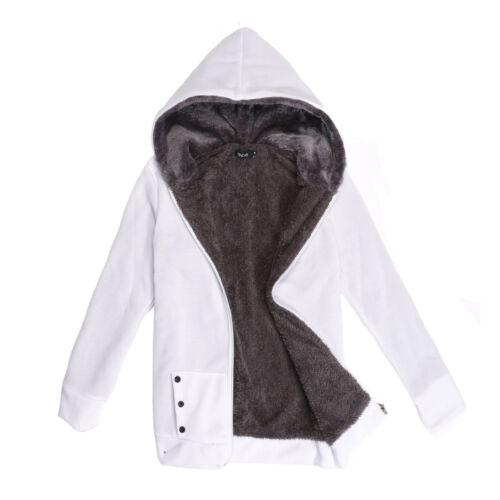 Womens Zip Sweatshirt Hoodie Ladies Jacket Coat Sweater Winter Wear Women UK