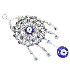 Turkish Blue Evil Eye Elephant Circle Ring Amulet Wall Hanging Decor Protection