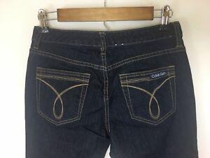 Calvin-Klein-Women-039-s-Dark-Wash-Flare-Cut-Jeans-in-Size-27-4P-Actual-28x26-NWOT