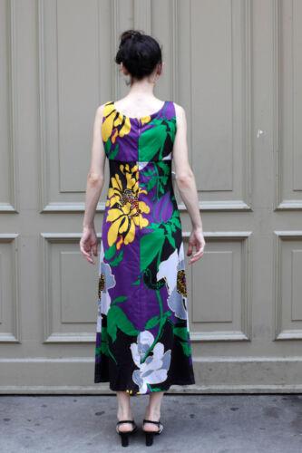 Noir 34 Robe 70's femme Long Vintage Noir 36 Coloré 70's Robe Long True Vert pour nBwtxq6