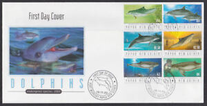 Papua new guinea 2003 fdc illustrated cover full set dolphins image is loading papua new guinea 2003 fdc illustrated cover full sciox Images