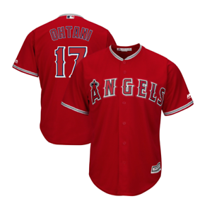 official photos 2231b a0c0f Details about Los Angeles Angels Shohei Ohtani #17 Men's Official Cool Base  Jersey-RED
