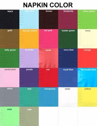 50 Plain Solid Colors Dinner Hand Towel Napkins Paper Fresh Mint