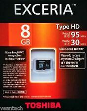 Toshiba Exceria 8GB microSD SDHC UHS-1 class10 Typ HD 8GB microSD Karte NEU&OVP