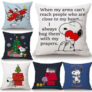 New-Home-Decor-Cute-Snoopy-Pillow-Case-Car-Lumbar-Cute-Anime-Sofa-Dog-Pillowcase