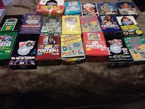 (100) Football Cards in Sealed Packs 20+ years old WOW! 24KT gold/autographed