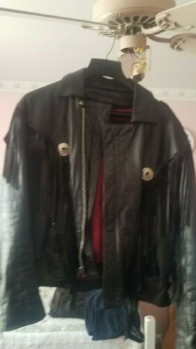 Mens Leather fringed leather Jacket