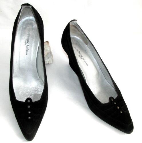 39 Stephane Kelian Tres Compensées Cuir Velours Bon Etat Chaussures Noir xYvawrq7YH