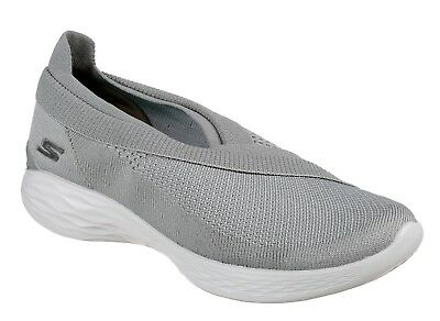 Skechers New vous Luxe Gris Enfiler Tricot Confort Fashion Chaussures Baskets Tailles 3 8 | eBay