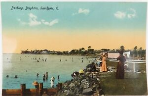 SUPERB-UNUSED-GLOSS-COLOUR-EARLY-1900-S-POSTCARD-SANDGATE-QLD-RETRAC-SERIES