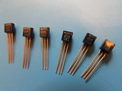 Original Motorola MPS-6514 MPS6514 Transistor with Gold Leads.