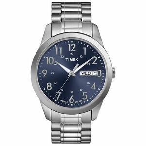 Timex-T2M933-Men-039-s-Silver-Tone-Expansion-Watch-Indiglo-Day-Date-T2M9339J