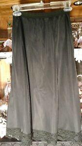 Women's Vintage Clothing Methodical Vtg Farr West Silky Nylon Black Half Slip Lingerie Sz Sm A-line Knee Length Be Friendly In Use Women's Clothing