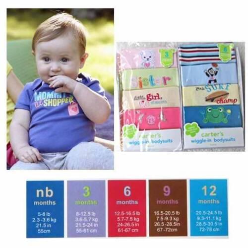 Wholesale Price! 5-Pack Carter/'s Baby Boy//Girl Long Sleeve Bodysuit Set