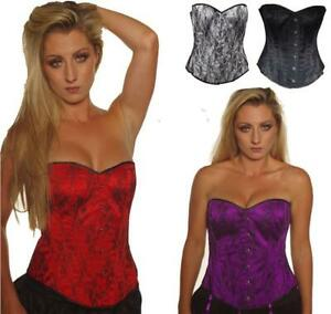 BASQUE-CORSET-STEEL-BONED-LACE-SIZE-6-18-TUTU-GOTHIC-FANCY-DRESS