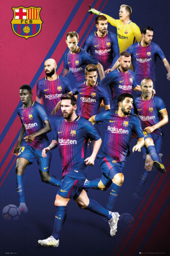 Poster 61x91,5 cm Barcelona Players 17//18