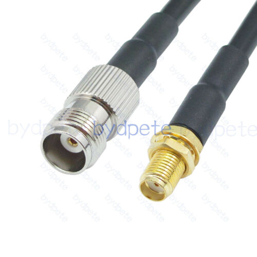 TNC female jack bulkhead to MMCX male RG316 Pigtail 50ohm Coaxial cable bydpete