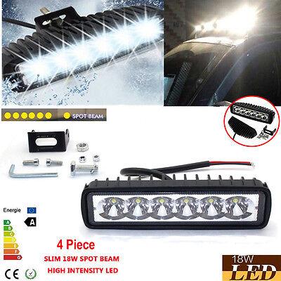 2x 6 inch18W Cree LED Work Light Bar Lamp Driving Spot Fog Offroad SUV 4WD Truck
