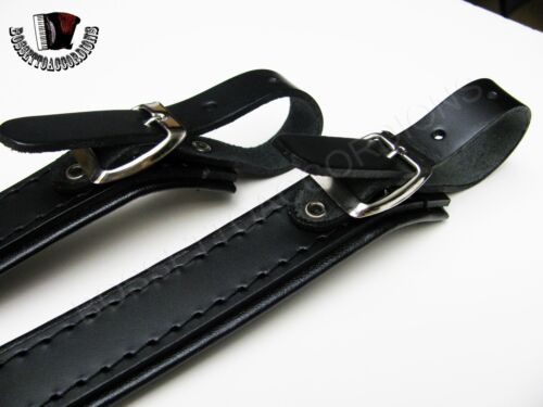Lower Straps Deluxe Leather Shoulder Straps Extensions L10 Made in Italy