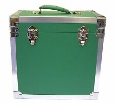 "Steepletone SRB-2 LP Vinyl Retro Record Storage Case Holds 50 12""LPs  - GREEN"