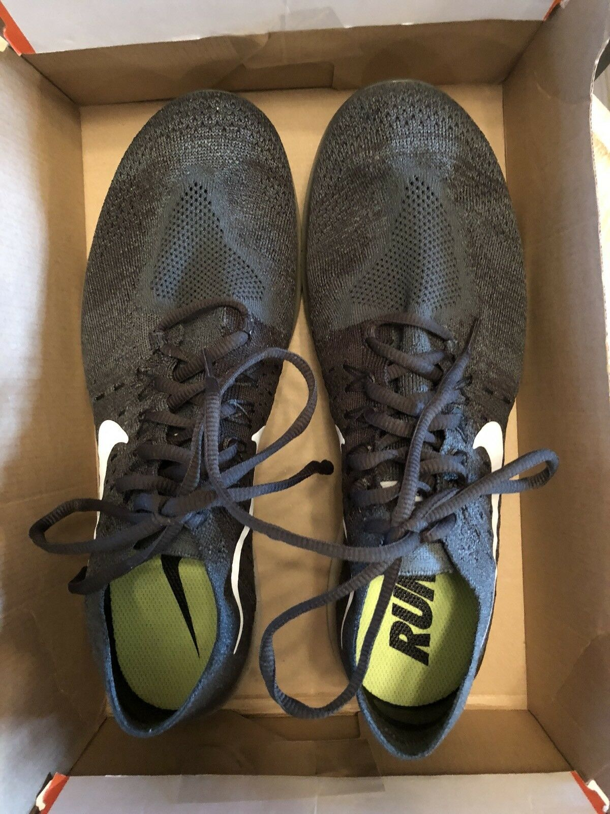 New Nike Free Run Flyknit 2017 Vintage Green/Platinum Mens Running Shoes Size 11