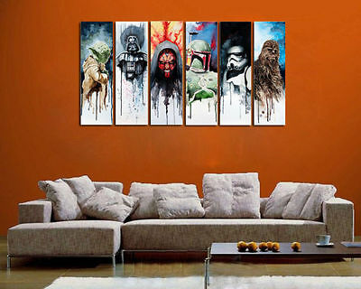 Handcraft Modern oil painting on canvas (No Stretch) Star Wars Man 6PC + Gift