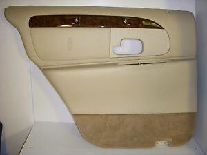 2001 lincoln town car cartier left rear driver interior door panel oem parchment. Black Bedroom Furniture Sets. Home Design Ideas