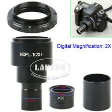Ndpl 2x 96x Slr Microscope Eyepiece Adapter 232mm T2 For Canon Nikon Camera