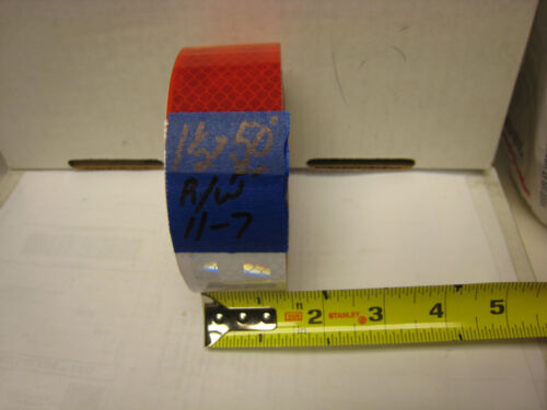 """WHITE RED Reflective   Conspicuity Tape 1-1//2/"""" x 50/' 7-11"""