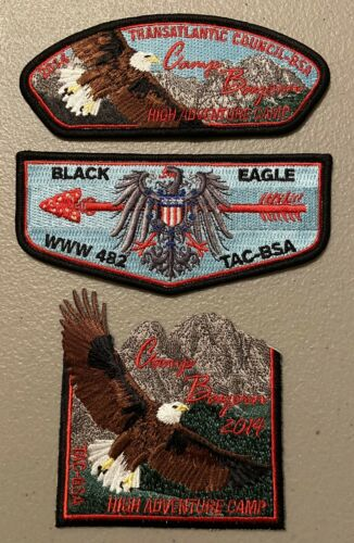 Transatlantic Council 3 Pc Set Black Eagle Lodge 482 2014 Camp Bayern