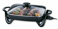 Skillet Nonstick Electric Frying Pan Glass Cover Presto Kitchen Dining Appliance