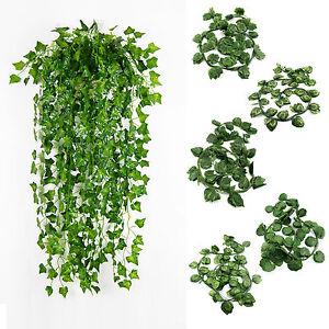 12-X-7-5ft-Artificial-Ivy-Vine-Fake-Foliage-Garland-Vine-plant-garden-wedding-UK