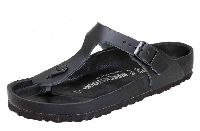 f53bed02d2d Birkenstock Premium Gizeh Thongs Black Natural Leather Exquisit ...
