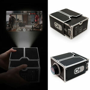 Diy mobile phone projector portable cinema cardboard for How to make mobile projector