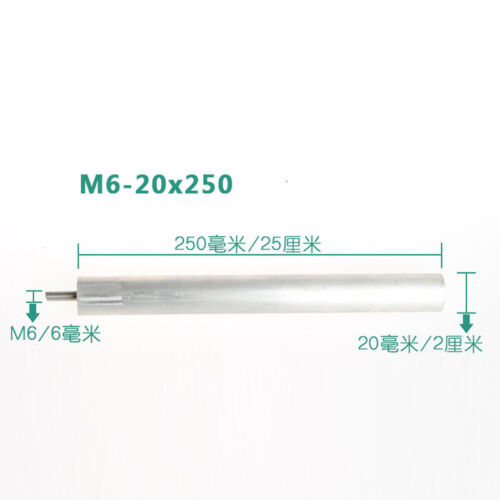 For Water Heater M6 Dia20mm  L200-300mm Extruded Magnesium Anode Rod Mg/>96/%