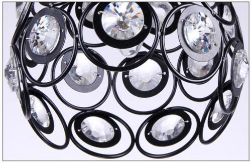 Modern Crystal Pendant Light Ceiling Lamp Dinning Room Bar Lighting Black//white