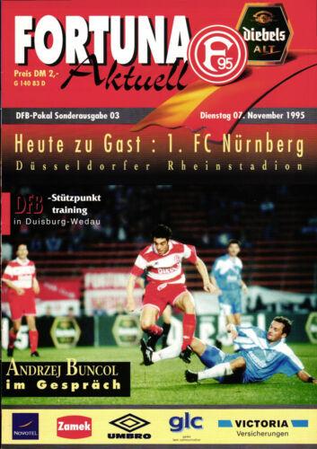 07.11.1995 1 FC Nürnberg DFB-Pokal 95/96 Fortuna Düsseldorf