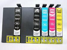 5Pk T252XL Ink Cartridge for Epson WorkForce WF3620 WF3640 WF7110 WF7610 WF7620