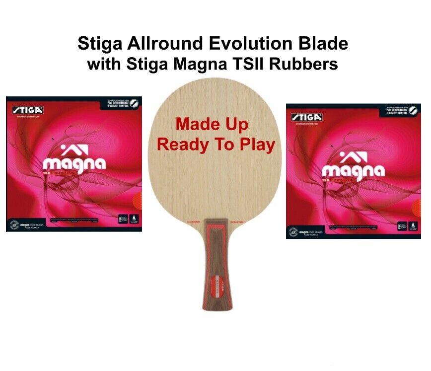 Table Tennis Bat  Stiga Allround Evolution Blade with Magna TS11 1.8mm Rubbers