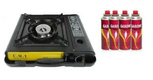 Portable Burner Stove Gas Single Butane Propane Camping Outdoor Case 7000 BTU