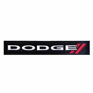 DODGE LOGO IRON-ON PATCH Challenger, Charger, Dart, Viper (New track version) | eBay